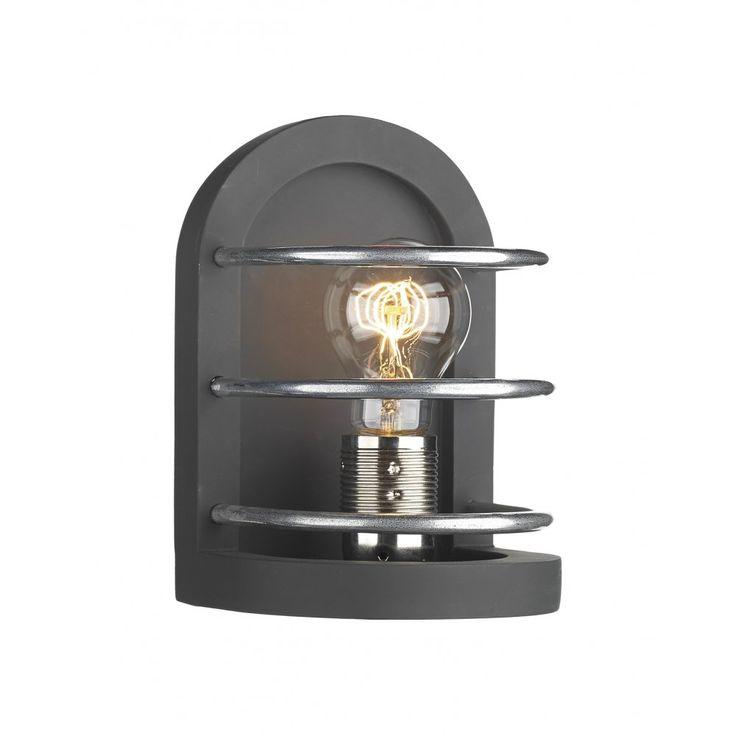 David Hunt Lighting DET0722 Detroit Retro Style Wall Light in Black