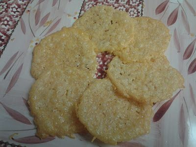 Parm Crisps ~ all you need is parmesan cheese and you have delicious cheesy crisps.