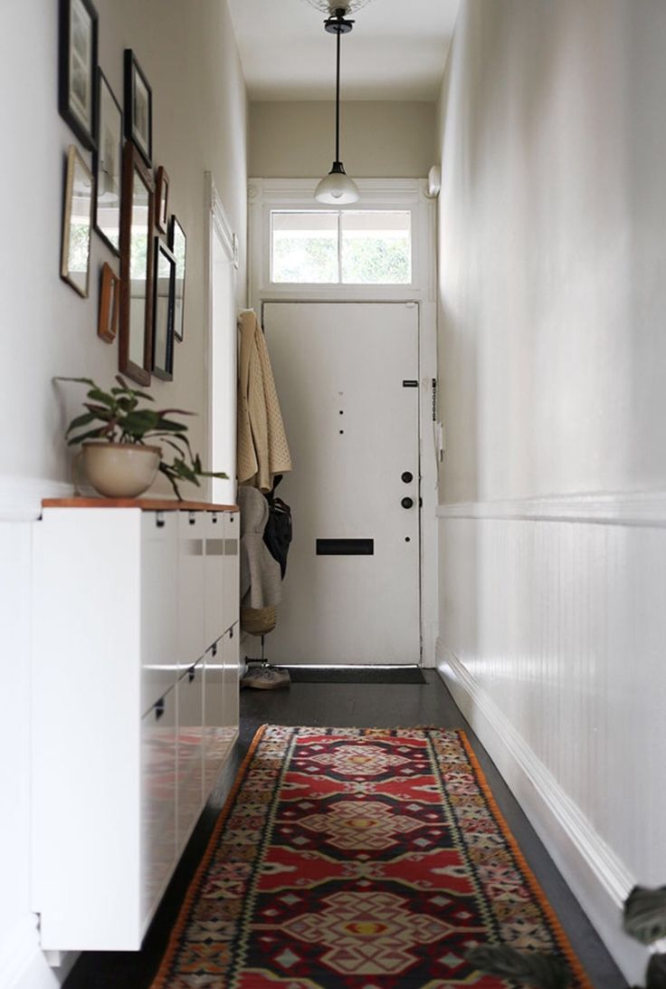 Hallway storage next   best Corredores images on Pinterest  For the home Narrow