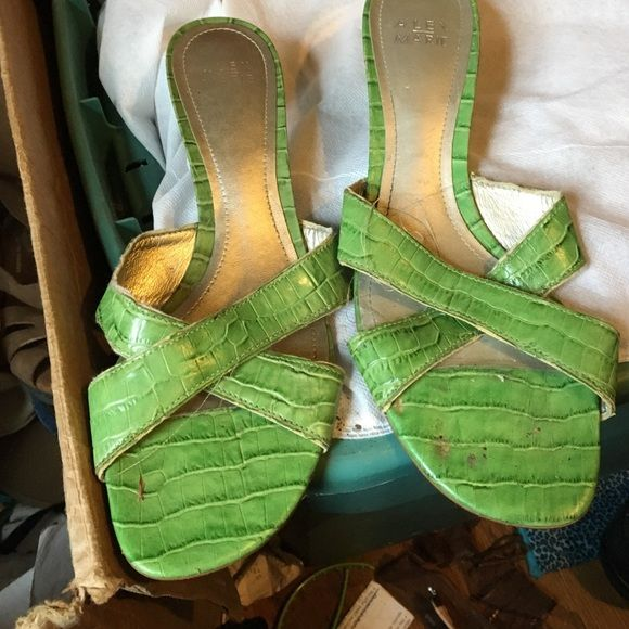 Green sandals Nice gentle used Alex Marie Shoes Sandals