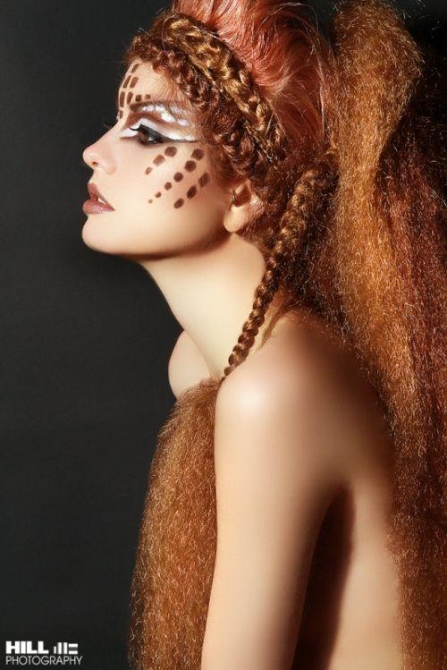 Tribal red hair/make-up