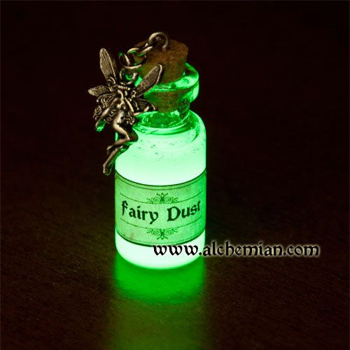glow in the dark fairies | Glow in the dark necklace Fairy Dust by AlchemianShop on Etsy