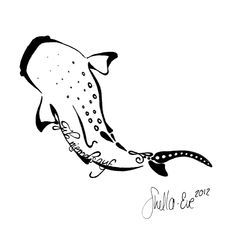 whale shark tattoo designs simple - Google Search