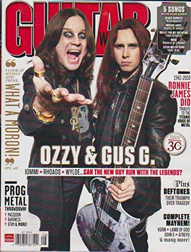 Guitar World Magazine August 2010 Ozzy Osbourne, Gus G., Deftones, Ronnie James Dio Death, Korn  Morbid Angel - Chapel Of Ghouls  Muse - Knights Of Cydonia  Black Sabbath - Neon Knights  Steve Miller Band - Rock N' Me  Bullet For My Valentine - Your Betrayal
