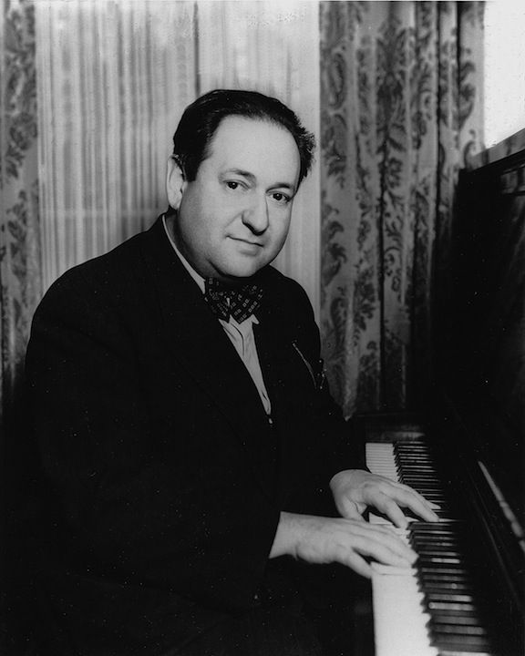 Movie score composer Erich Wolfgang Korngold at the piano