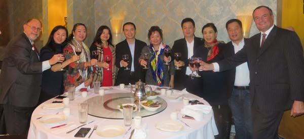 chengdu delegation welcome to NYC Dinner