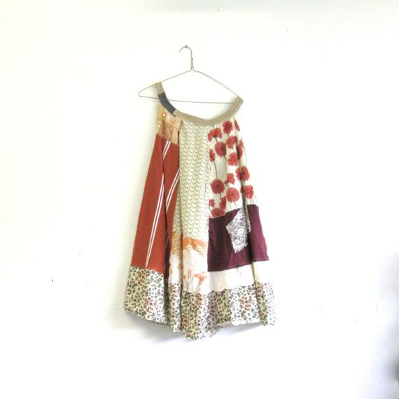 romantic Upcycled clothing / Patchwork Dress / Funky clothing by CreoleSha, $92.00
