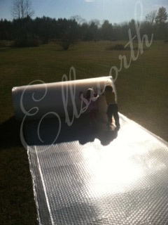 Polydress® SolaWrap, also known as Polydress® LP Keder greenhouse plastic comes in rolls that are 6′.6″ ft x 328 ft in size. Now offering widths of 4, 5, 6 and 2 meters. This high quality greenhouse plastic film is ideal for hoop house installation, greenhouse domes and standard gothic greenhouse designs.