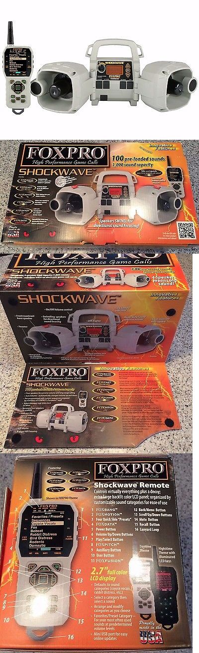 Game Calls 36252: Foxpro Shockwave Electronic Predator Coyote Game Caller W/Remote - Sw1 -> BUY IT NOW ONLY: $489.99 on eBay!