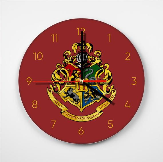 Image 0 Harry Potter Clock Harry Potter Wall Clock