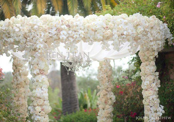 Wedding Ceremony Ideas Flower Covered Wedding Arch: Karen Tran Floral Joseph Matthew Photography