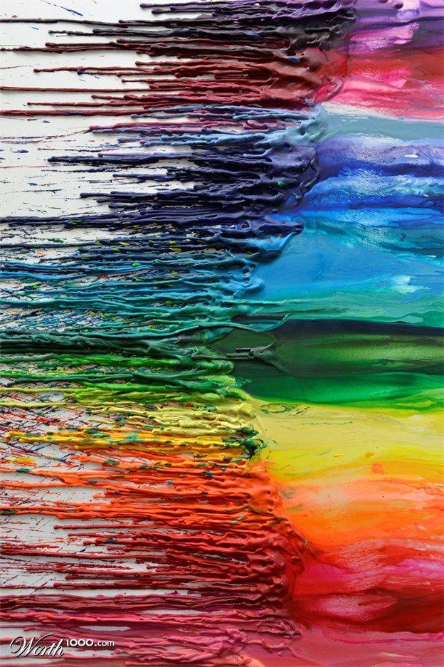 Rainbow | Arc-en-ciel | Arcobaleno | レインボー | Regenbogen | Радуга | Colours | Texture | Style | Form | 96 crayons