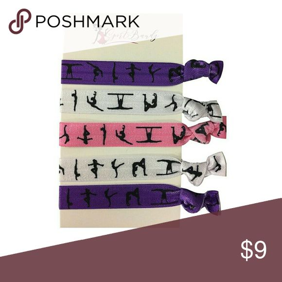 Gymnastics Hair Ties- Girls Gymnastics Hair Access Gymnastics Hair Ties - Girls Gymnastics Hair Accessories - Gymnastics Elastics  WHO LOVES GYMNASTICS?! Show your Pride for the Gymnastics with this Hair Accessories. Gymnastics Hair Ties includes 5 hair ties for the gymnasts. Absolutely adorable, you'll be in a hurry to show it off to your friends and family!  Perfect Gift for Gymnasts!! Accessories Hair Accessories