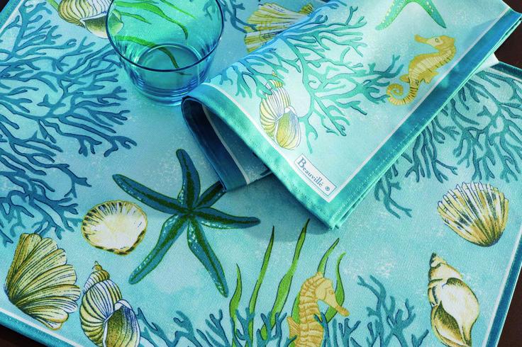 прелестная скатерть для любителей морской тематики  beauville