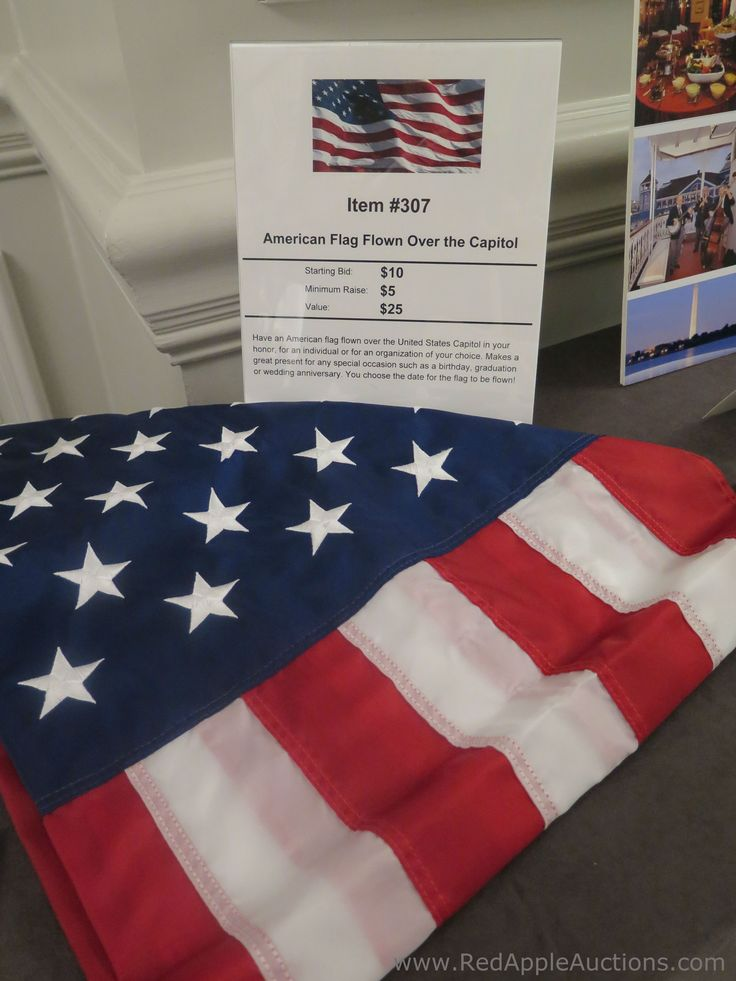 A common silent auction donation in the Washington, D.C. area are flags flown over the Capitol. Click thru to read a blog post about this topic.