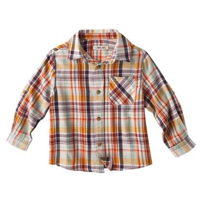 Cherokee® Infant Toddler Boys' Long-Sleeve Button Down Shirt