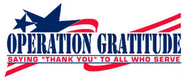 Operation Gratitude - care packages for our troops. Ways to give back to those who support our freedom.