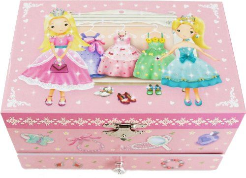 Jewelry Music Boxes - Lily  Ally  Princess Musical Jewelry Box with Melody of Over the Rainbow >>> You can find more details by visiting the image link.