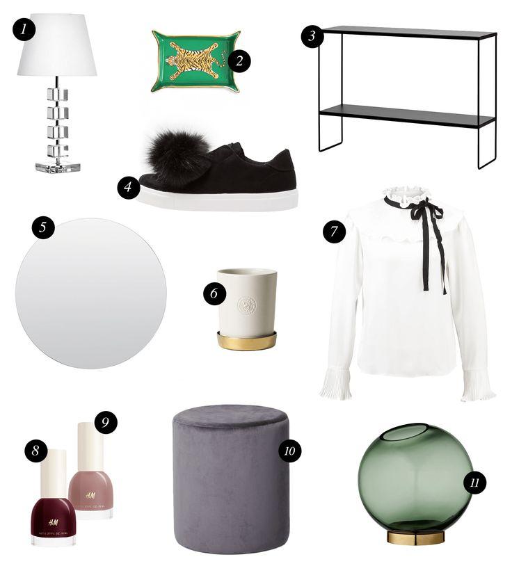 Önskelista september / Wishlist / Interior / Fashion / Collage / Montage / Blogger / Blog post ideas