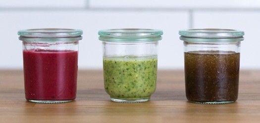 Salatdressings selbstgemacht - 3 Rezepte: Himbeer-Dressing, Kräuter-Salatdressing & Holunderblüten-Vinaigrette