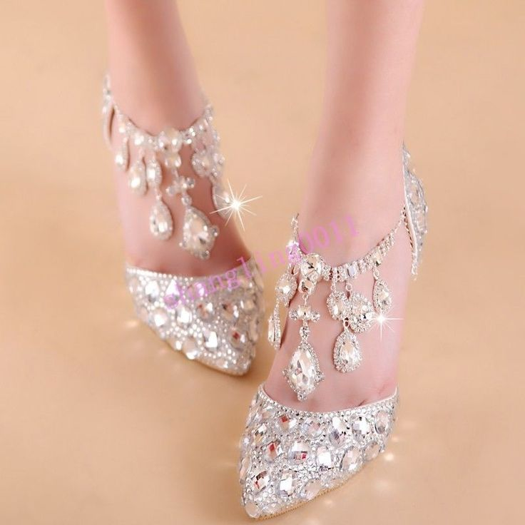 Sh Spring Womens Bling Wedding Stilettos Heel Party Rhinestones Prince Shoes