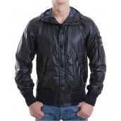 Stone Island Garment Dyed Mussola Gommata Jacket In Black