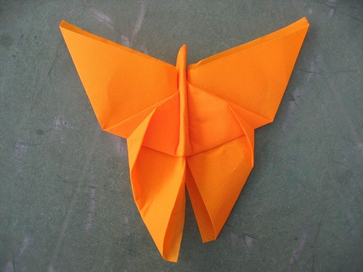 BUTTERFLY Napkin uses paper but might work for cloth too