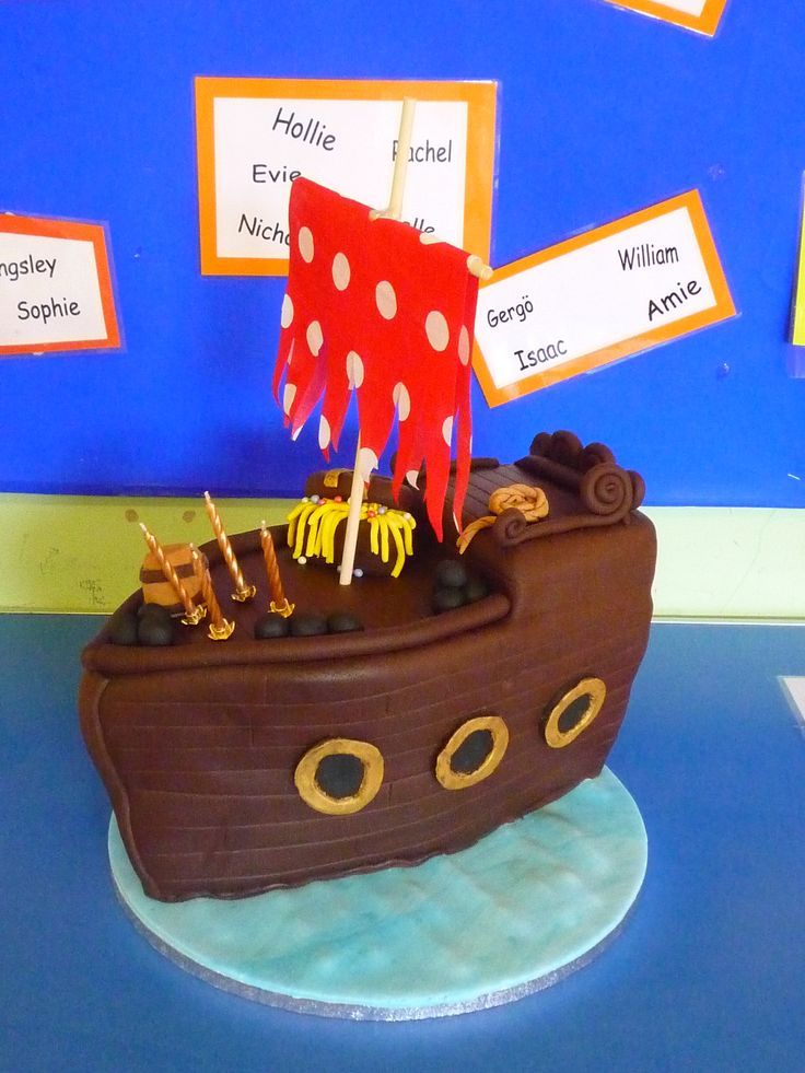 As requested a pirate ship cake for a pirate party