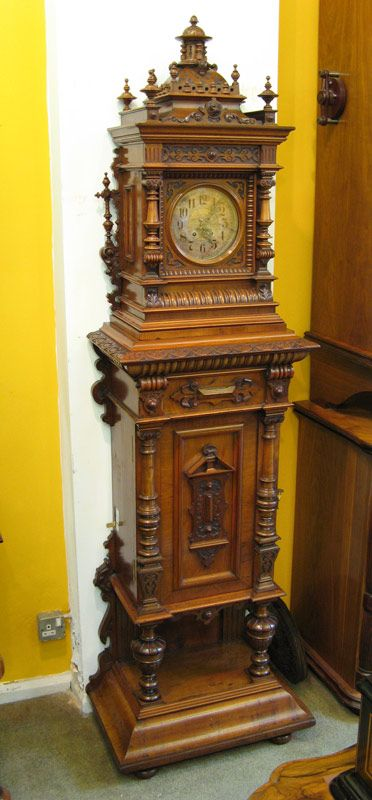 Symphonion antique musical hall clock- 1895  What a great combination!!