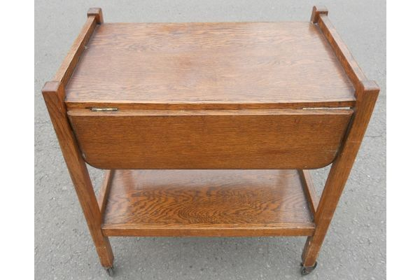 Oak Dropleaf Tea Trolley 1930s | Vinterior London  #vintage #20thcentury #design #interiors