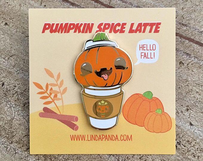 Pumpkin Spice Latte Hard Enamel Lapel Pin