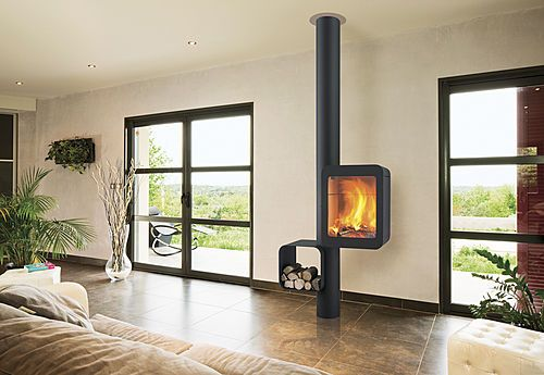 The new Grappus wood burning stove by Focus - ArchiExpo