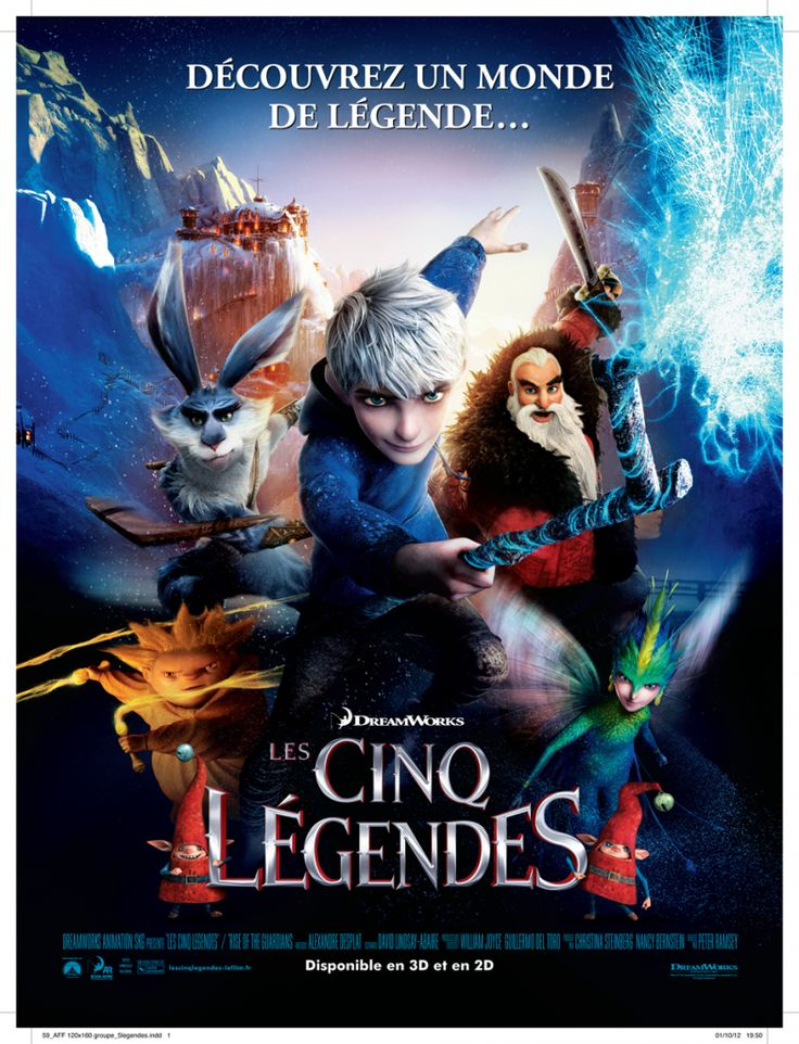 LES CINQ LEGENDES (Rise of The Guardians) : Nouvelles affiches et bande annonce française avec les voix de Gaspard Ulliel et de Nolwenn Leroy