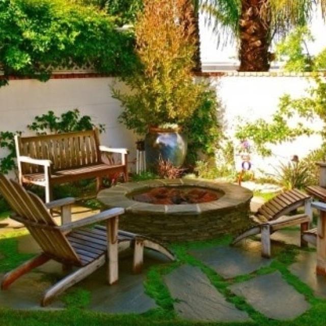Fire pit   Small backyard ideas   Pinterest