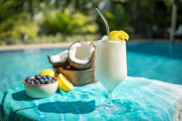 Give a toast to National Rum Day with this Cruzan Blueberry Lemonade Rum Colada. A perfectly refreshing cocktail for a hot summer day!