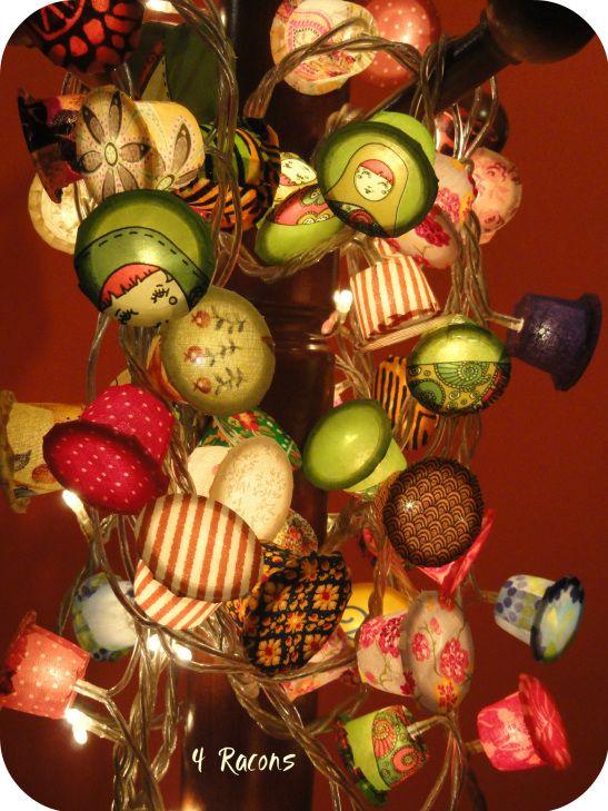 Llums decoratives a partir de càpsules de cafè   DIY decorative lights   Luces decorativas reciclar capsulas café