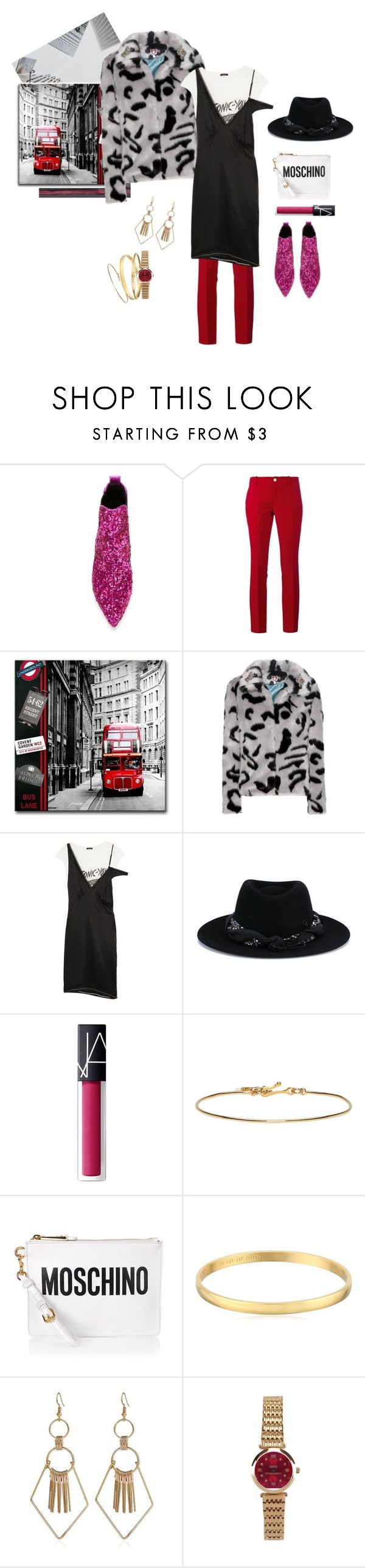 """""""London return"""" by manyfaces on Polyvore featuring мода, Marc Jacobs, Gucci, Shrimps, R13, Maison Michel, NARS Cosmetics, Isabel Marant, Moschino и Kate Spade"""