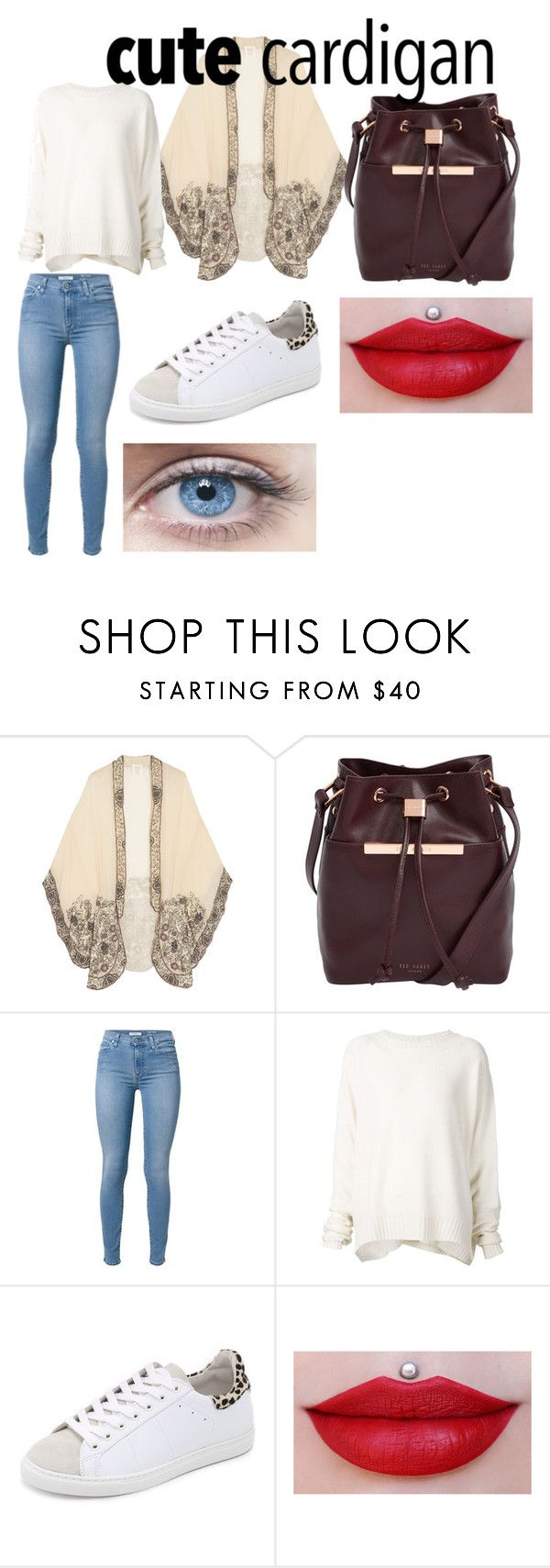 """cozy cardigan"" by yumenaisenpai on Polyvore featuring Anna Sui, Ted Baker, URBAN ZEN and IRO"