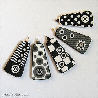 Patterned Pendants - Retro | polymer clay | Jana Lehmann | Flickr