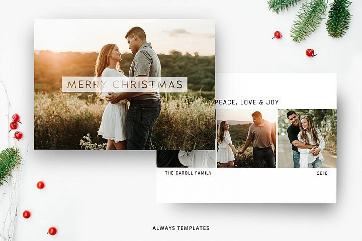 Christmas Card Template Cc020 359325 Card And Invites Design Bundles Christmas Card Template Holiday Card Template Photoshop Christmas Card Template