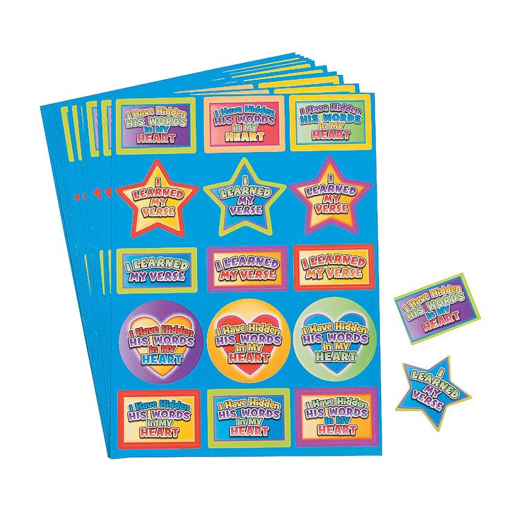 I learned my verse sunday school stickers for Bible school craft supplies
