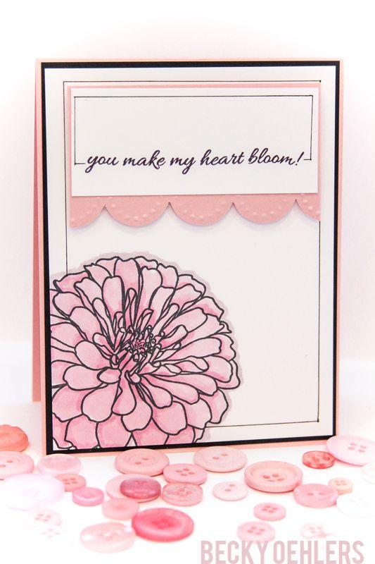 Card Making Ideas Gina K Part - 29: Bold Blooms Stamp Set - Gina K Designs- Love This Layout!