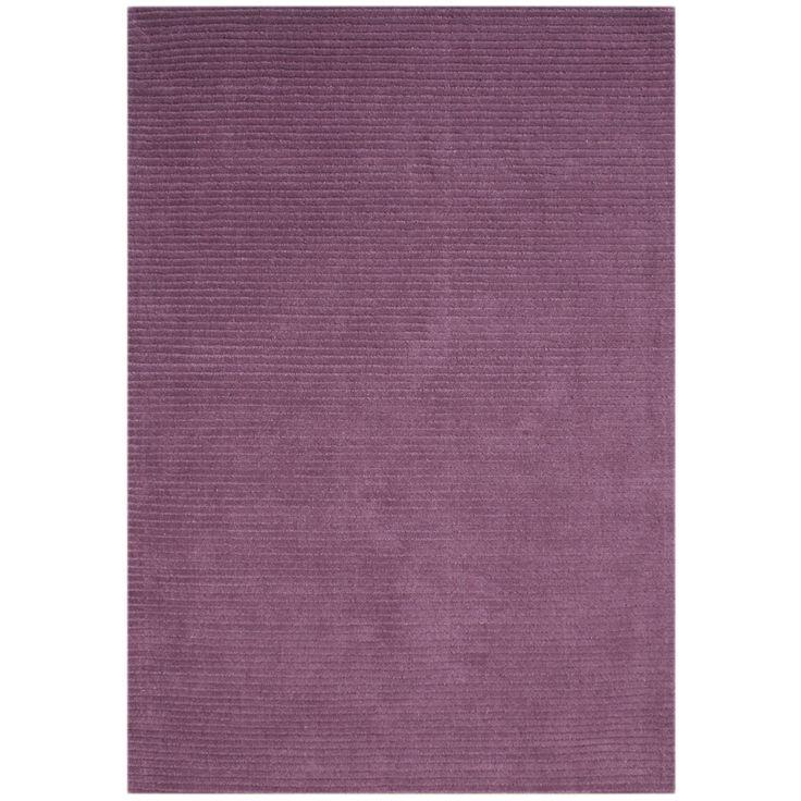 Alliyah Hand Loomed Purple New Zealand Wool Rug (5u0027 X 8u0027)