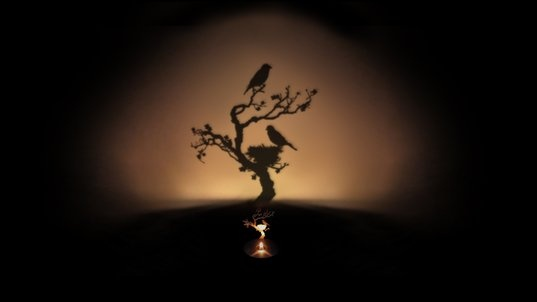 Tree Shadow Projecting Oil Lamp  Designed by Adam Frank