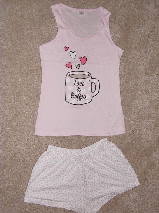 Dvoudílné letní pyžamo s potiskem Coffee