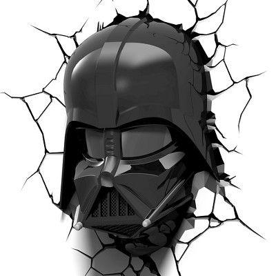 Star Wars 3D Wall Nightlight - Darth Vader Helmet, Black