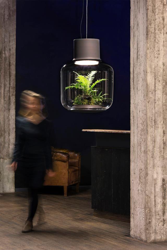 #NuiStudio ha creado #Mygdal una lámpara que crea espacios íntimos con luz ambiental y alberga vida en su interior ... #MueblesMesegue #Interiorismo #DiseñoInterior