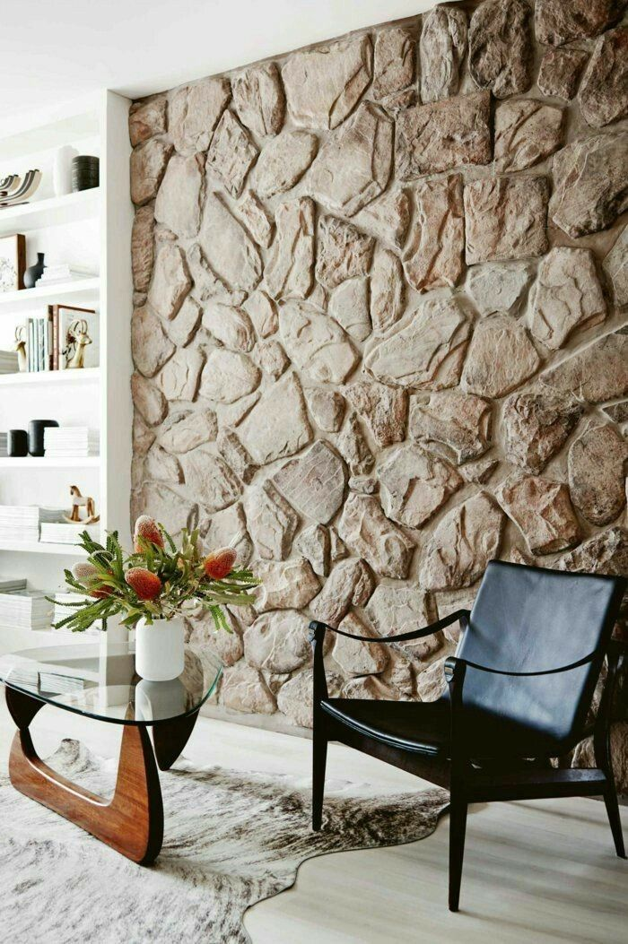 Interior stone wall pillar in terms of authenticity 40 Photos Interior stone wall pillar in terms of authenticity 40 Photos trendsforladies trendsforladies Wall Decoration Interior stone wall pillar in terms nbsp hellip Stone Interior, Home Interior Design, Stone Wall Living Room, Living Room Interior, Living Room Decor, Interior Livingroom, Dining Room, Stone Wall Design, Stone Accent Walls