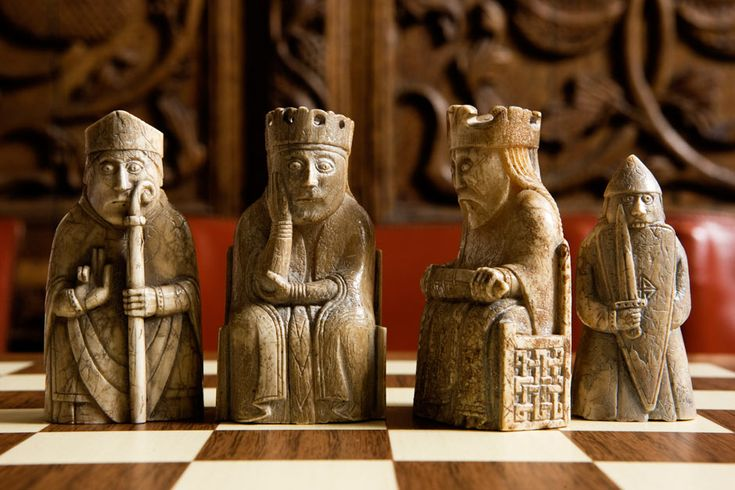 Wizards and warriors: the Lewis Chessmen who inspired Harry Potter - These 12th-century chess pieces carved from walrus tusks and whale teeth inspired the chess set in the film of Harry Potter and the Chamber of Secrets and are the most impressive Norse objects ever found in Britain