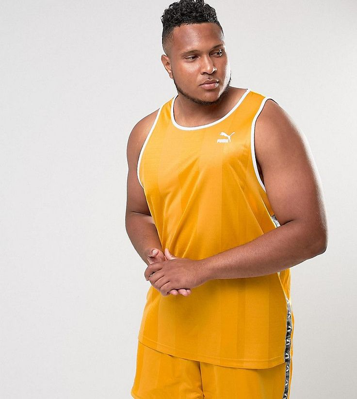 Puma PLUS Retro Soccer Tank In Yellow Exclusive to ASOS 57657901 - Yel
